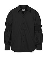 MM6 MAISON MARGIELA Shirred Cotton Poplin Shirt