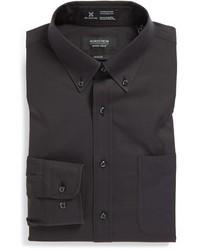 Shop smartcare trim fit solid dress shirt medium 172896