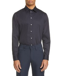 Emporio Armani Slim Fit Stretch Solid Button Up Shirt