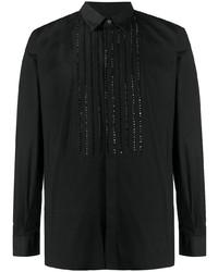 Balmain Sparkly Bib Front Shirt