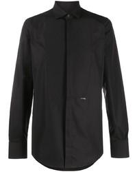 DSQUARED2 Spread Collar Front Bib Shirt