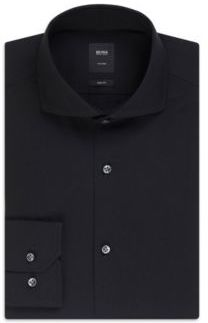 9f7a3534 ... Black Dress Shirts Hugo Boss T Christo Slim Fit Spread Collar Italian  Cotton Dress Shirt 175 Purple