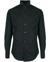 Emporio Armani Tonal Bib Dress Shirt