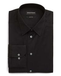 Emporio Armani Trim Fit Solid Dress Shirt