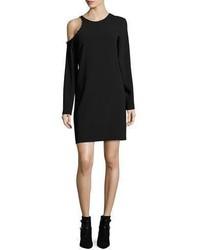 IRO Breen Cold Shoulder Long Sleeve Crepe Dress