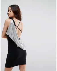 Asos Chainmail Asymmetric Back Mini Dress