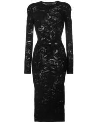 Versace Crewneck Slim Fit Dress