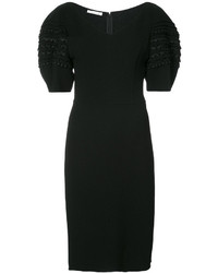 Oscar de la Renta Exaggerated Sleeve Dress