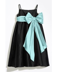 Us Angels Girls Sleeveless Empire Waist Taffeta Dress
