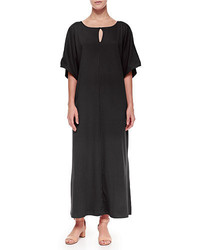 Joan Vass Keyhole Front Long Dolman Dress