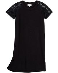 Love, Fire Lace Sleeve Knit Dress