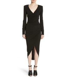 Michael Kors Michl Kors Stretch Jersey Wrap Dress