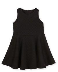 Milly Minis Racerback Trapunto Circle Dress Black Size 8 14
