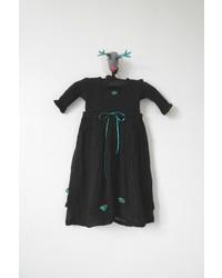 Scarecrow Kids Black Muslin Dress