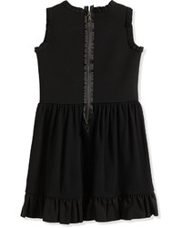 Lanvin Sleeveless Fit And Flare Dress W Flower Black Size 8 12