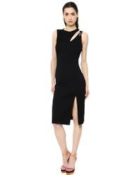 Versace Sleeveless Stretch Viscose Cady Dress
