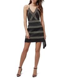 Topshop Studded Mesh A Line Dress