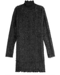 Carven Turtleneck Dress With Shimmer