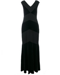 Ralph Lauren V Neck Evening Dress