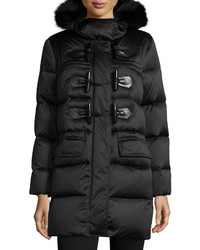 Burberry Altberry Duffle Puffer Coat With Fur Hood