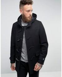 Asos Wool Mix Duffle Coat In Black