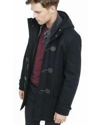 Black Hooded Toggle Coat