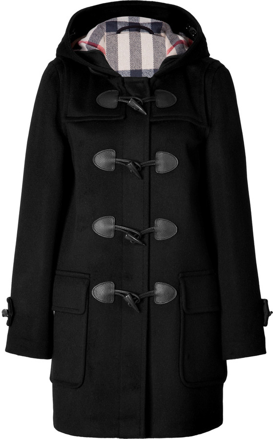 Burberry Brit Wool Minstead Duffle Coat In Black Check | Where to ...