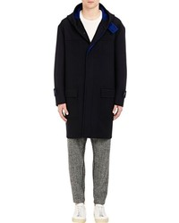 TOMORROWLAND Double Faced Hooded Duffle Coat Blue