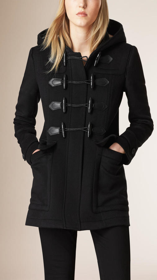 1 195 Burberry Fitted Wool Duffle Coat