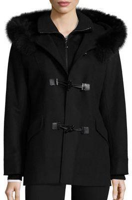 George Simonton Fox Fur Trim Duffle Coat | Where to buy & how to wear