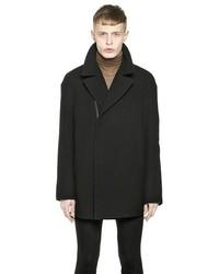 Haider Ackermann Duffle Wool Coat With Velvet Piping