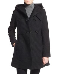 Hooded basket weave duffle coat medium 369731