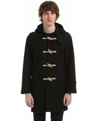 Saint Laurent Hooded Wool Felt Duffle Coat