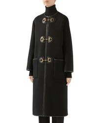 Gucci Horsebit Toggle Wool Blend Military Coat