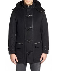 Lamarque Leather Trim Duffle Coat