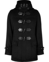 Burberry London Wool Cashmere Blend Montague Duffle Coat In Black