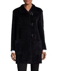 Max Mara Studio Luciana Alpaca Virgin Wool Duffle Coat