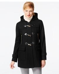 MICHAEL Michael Kors Michl Michl Kors Faux Leather Trim Hooded Duffle Coat