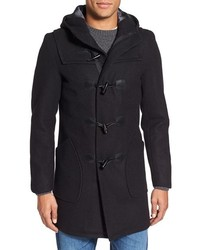 Schott NYC Satin Lined Wool Blend Duffle Coat
