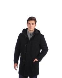 Sean John Hooded Toggle Wool Coat