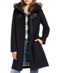 Pendleton St Marie Wool Hooded Coat With Genuine Raccoon