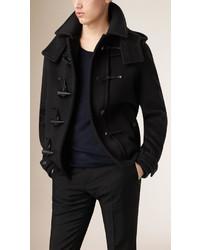 Burberry Virgin Wool Duffle Coat With Detachable Hood