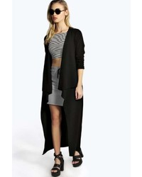 Boohoo Amanda Waterfall Longline Duster Coat