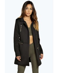 Boohoo Boutique Grace Scuba Duster Coat