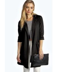 Boohoo Faye Longline Pocket Duster Coat