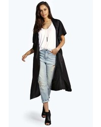 Boohoo Charlie Sleeveless Waterfall Duster Coat