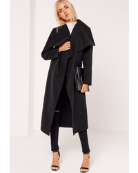 Missguided Oversized Waterfall Duster Coat Black