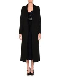 Valentino Notch Lapel Duster Coat Black