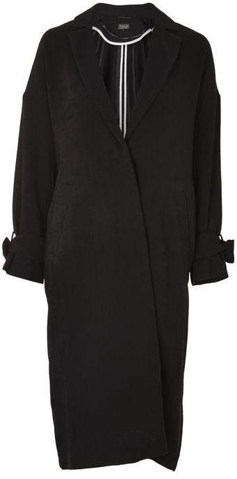 Topshop Plisse Duster Coat