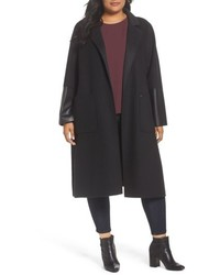 Plus size michl michl kors double face wool blend duster medium 4913239